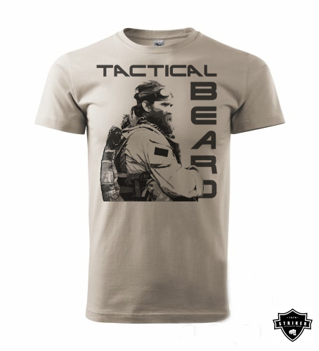 Tričko STRIKER TACTICAL BEARD khaki