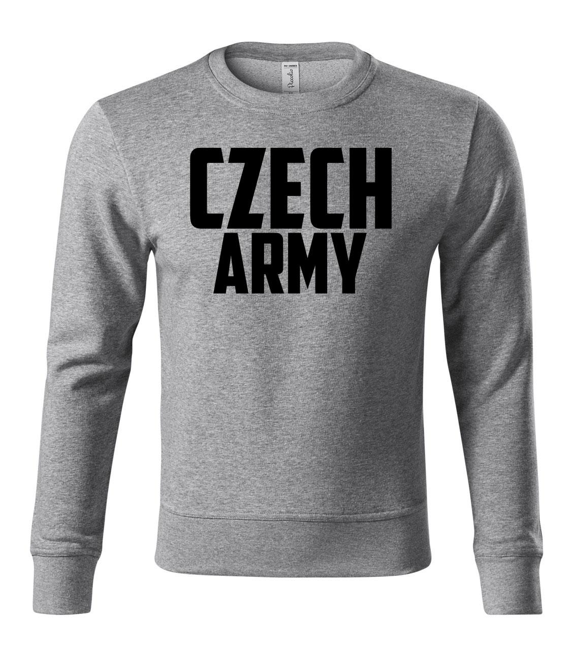 Šedá mikina STRIKER CZECH ARMY empty 942965c27f