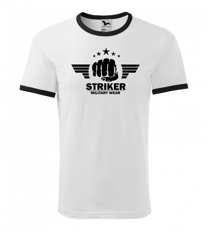 Tričko STRIKER Military wear white