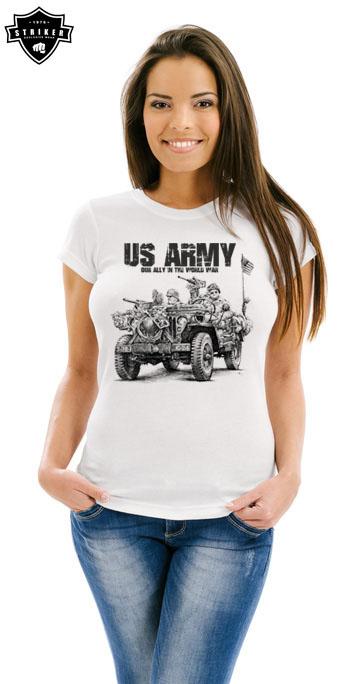 be315568ae13 Dámské tričko STRIKER US ARMY JEEP