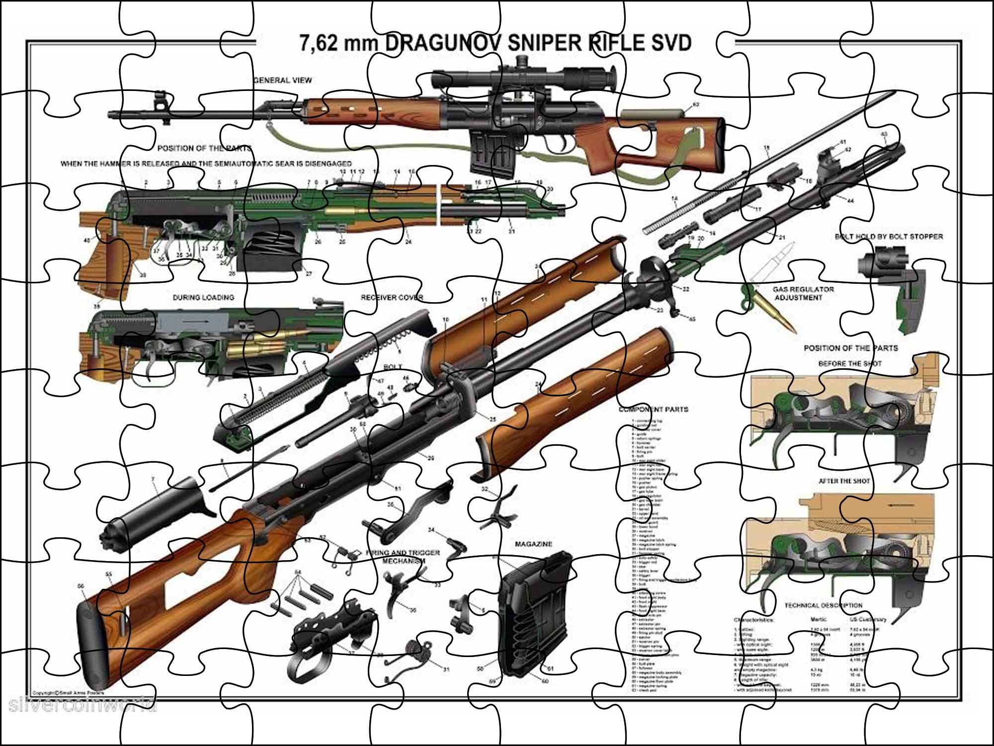Puzzle STRIKER Dragunov SVD